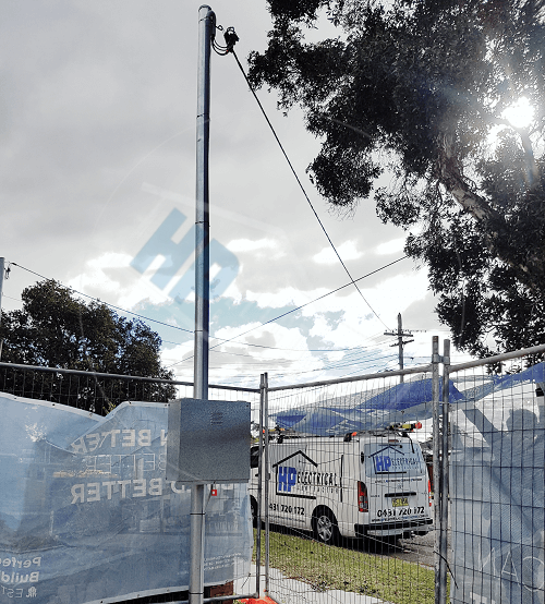 power pole installation western sydney level 2 electrician