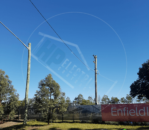 private power pole replacement fairfield & wetherill park nsw level 2 electrician